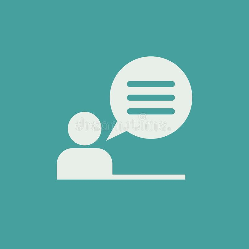 Pictograma del signo de interrogación Icono del FAQ Icono del tema del intercambio de información ilustración del vector