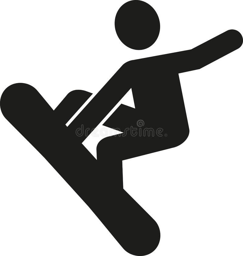 Pictograma del Snowboarder ilustración del vector