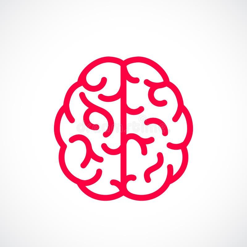Pictograma del vector de la mente humana stock de ilustración