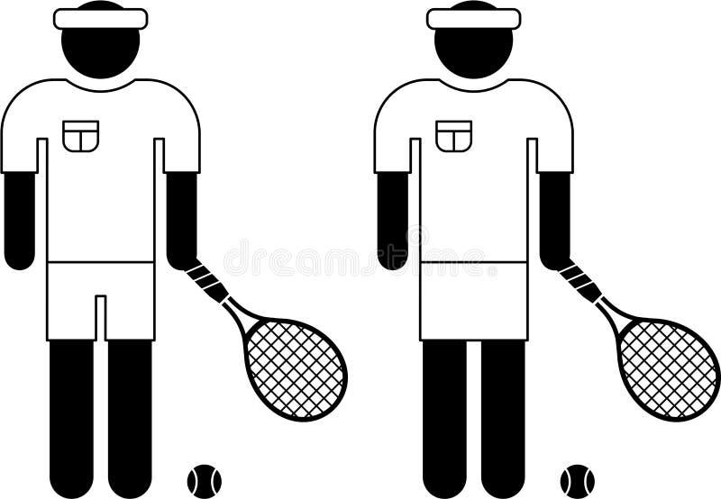 Pictograma do jogador de ténis ilustração do vetor