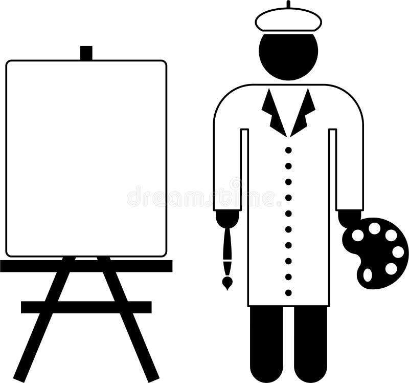 Pictograma do pintor ilustração do vetor