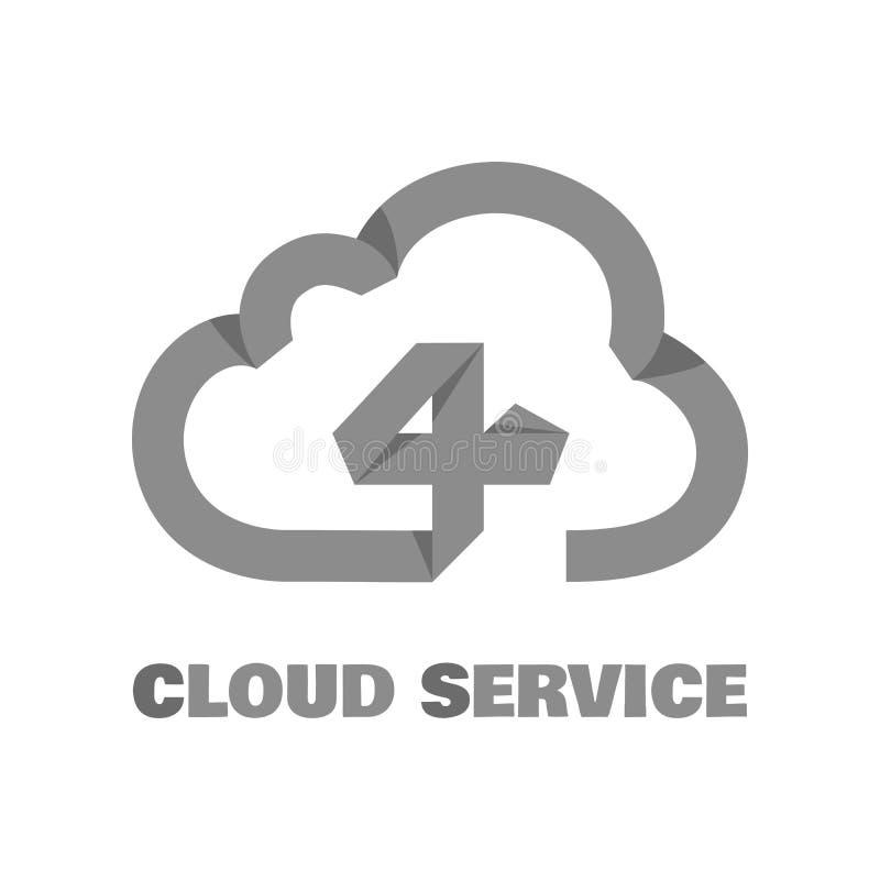 Pictograma do serviço da nuvem ilustração royalty free