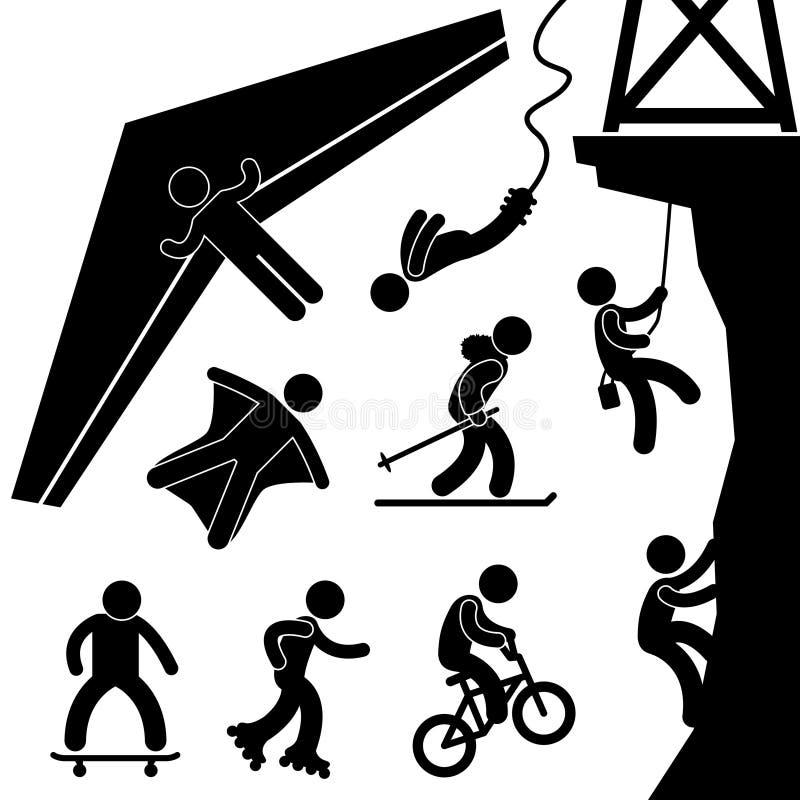 Pictograma extremo del deporte stock de ilustración