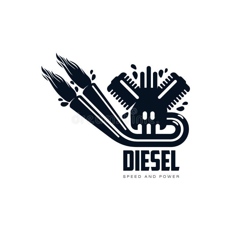 Pictograma liso simples do ícone do motor de gasolina do vetor ilustração stock