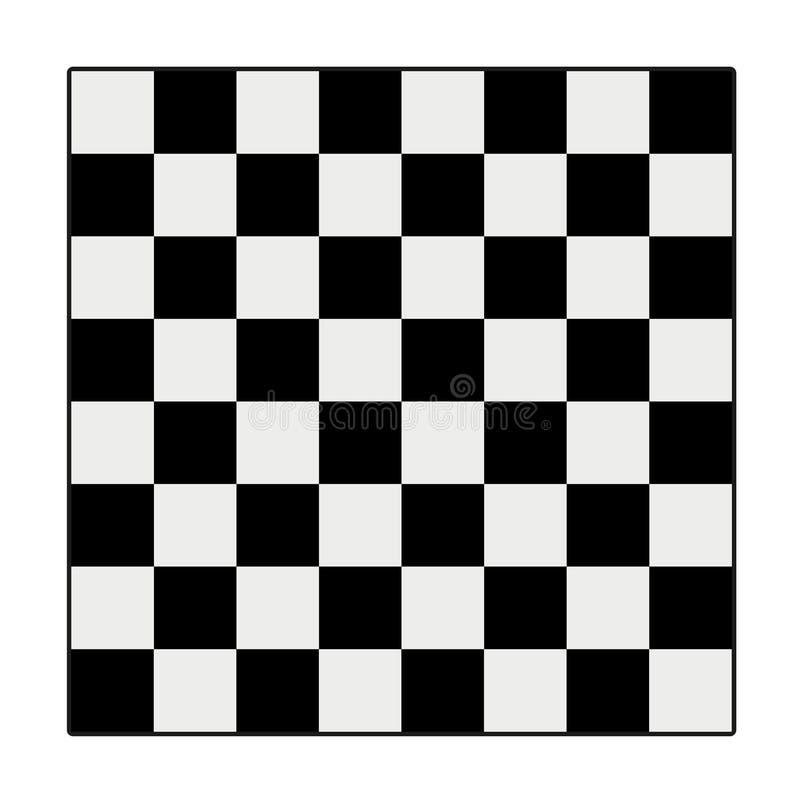 Pictograma negro en el fondo blanco Estilo plano icono del ajedrez para stock de ilustración