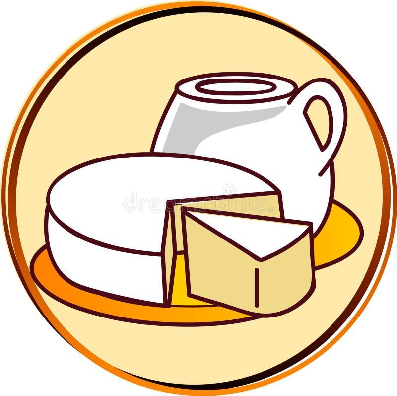 Pictograma - productos lácteos stock de ilustración