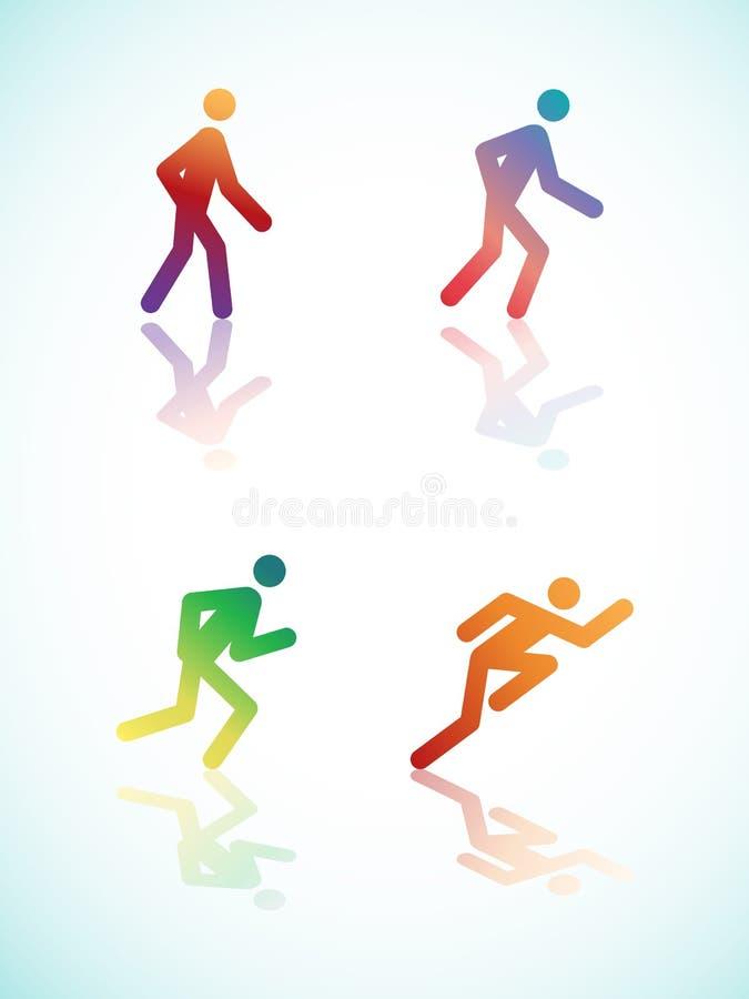 Pictograma Running Do Inclinação Imagem de Stock Royalty Free