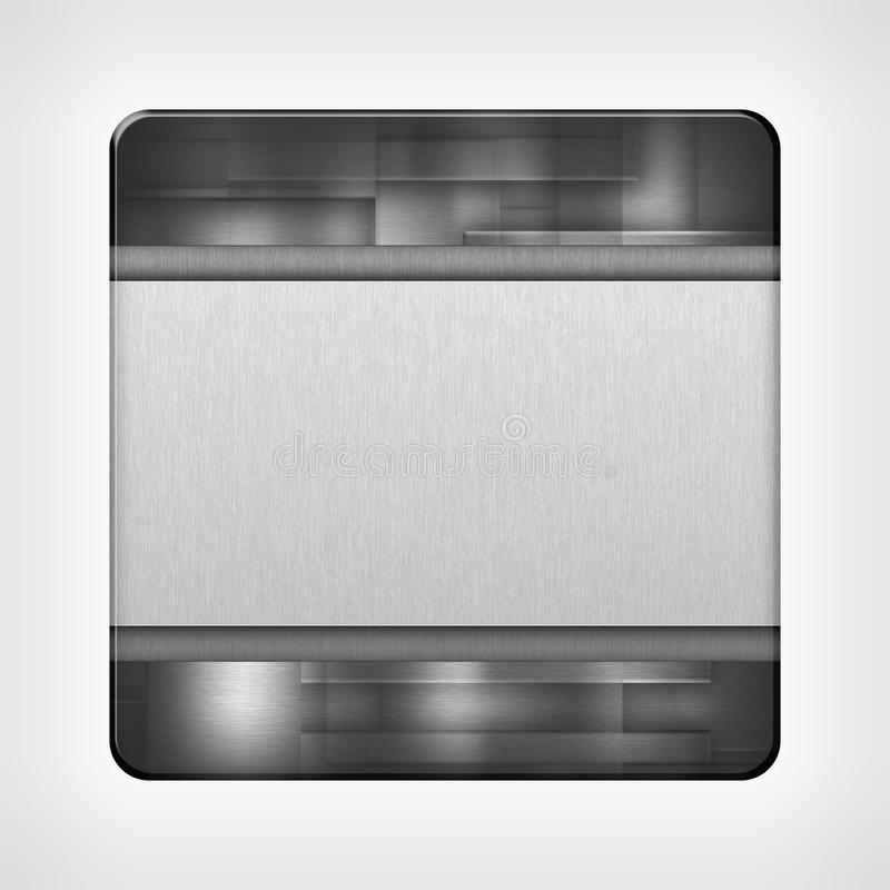 Pictogrammalplaatje voor toepassingen stock illustratie