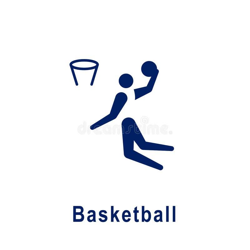 Pictogramme de basket-ball, nouvelle icône de sport illustration de vecteur