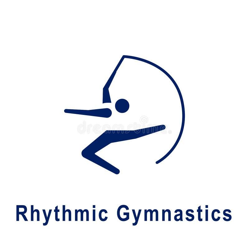 Pictogramme de gymnastique rythmique, nouvelle icône de sport illustration libre de droits