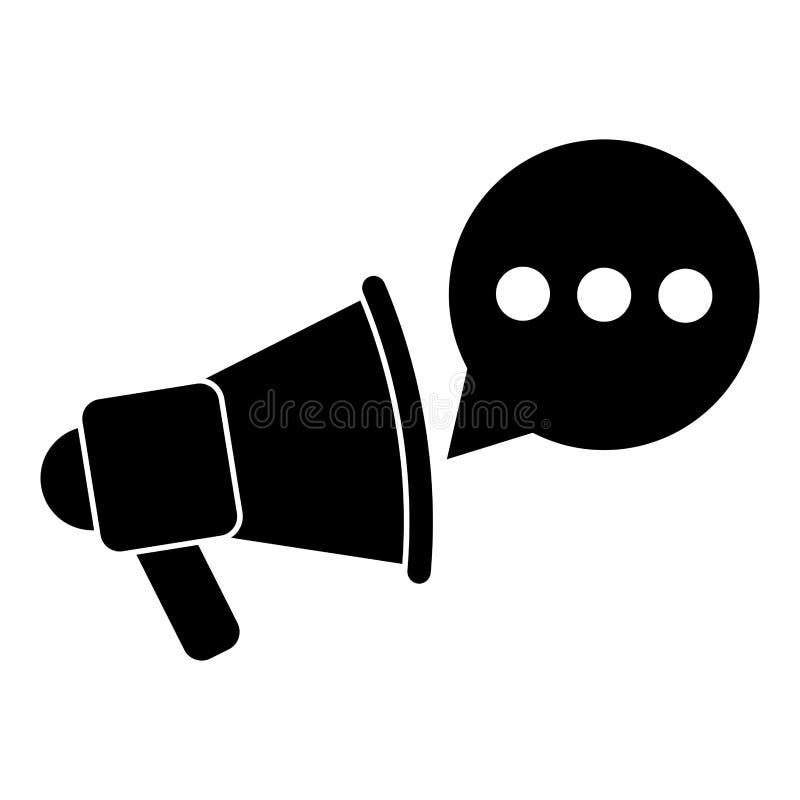Pictogramme de la parole de bulle de communication de conversation d'ordinateur illustration libre de droits