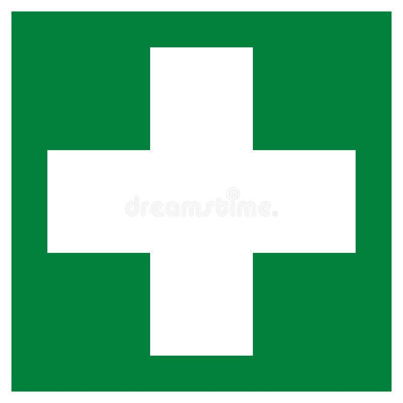 Pictogramme de symbole de premiers secours illustration libre de droits