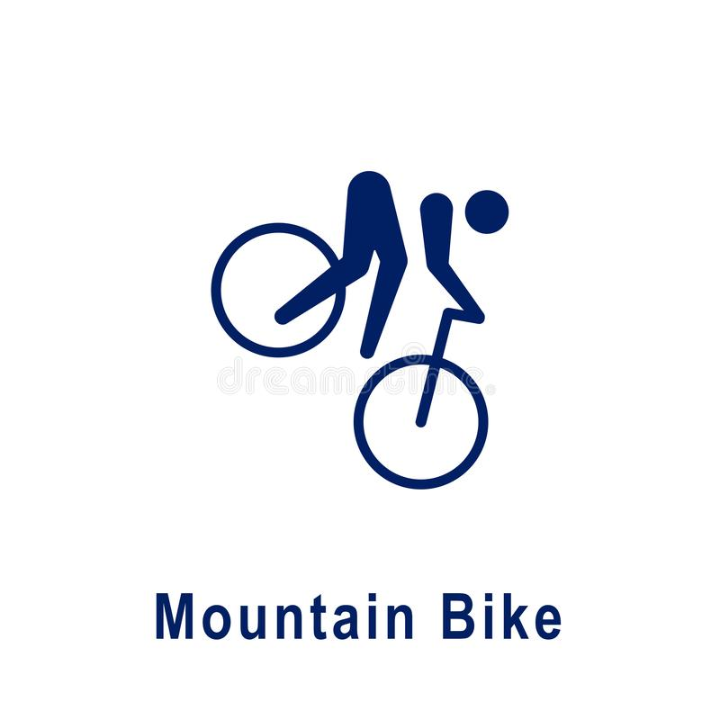 Pictogramme de vélo de montagne, nouvelle icône de sport illustration libre de droits
