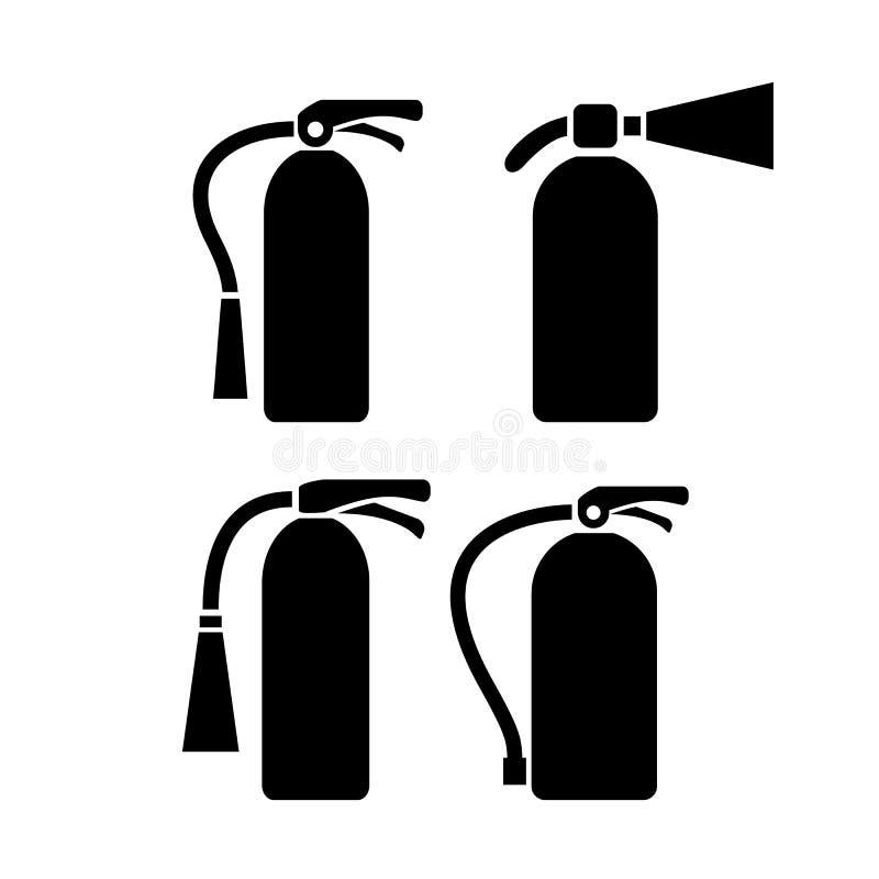 Pictogramme de vecteur d'extincteur illustration stock