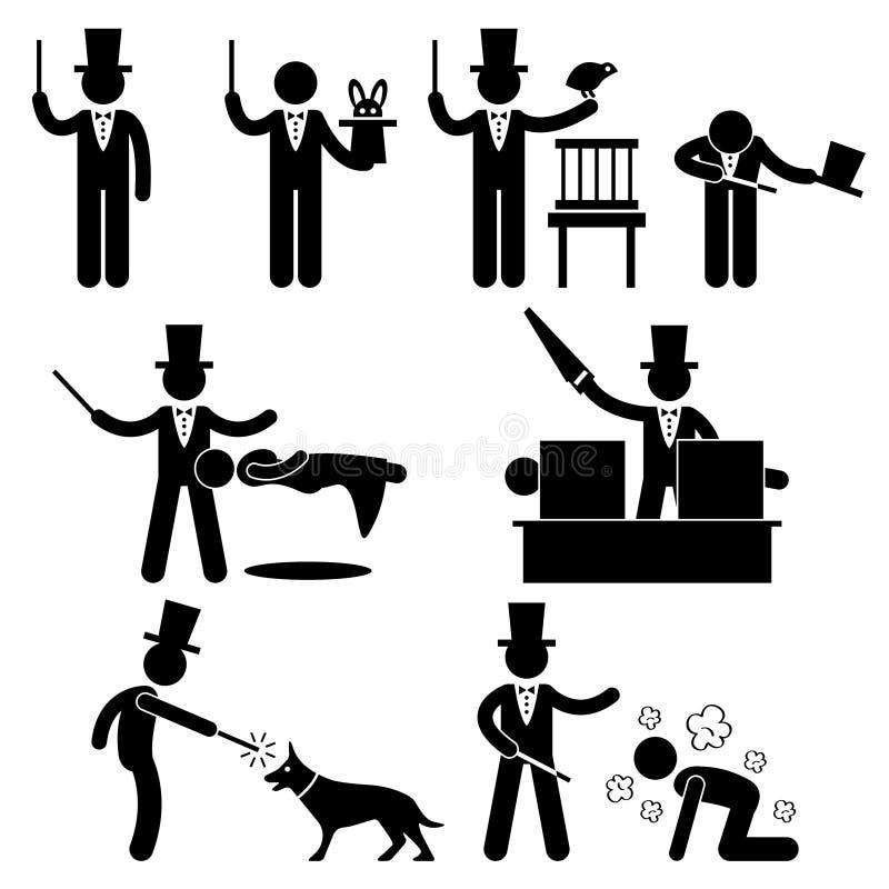 Pictogramme magique d'exposition de magicien illustration libre de droits