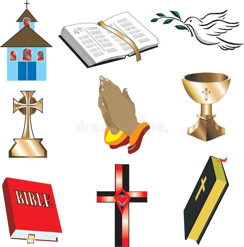 Pictogrammen 1 van de kerk royalty-vrije illustratie