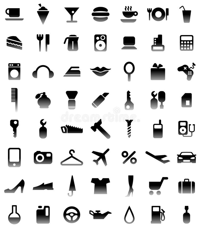 Pictogrammen stock illustratie