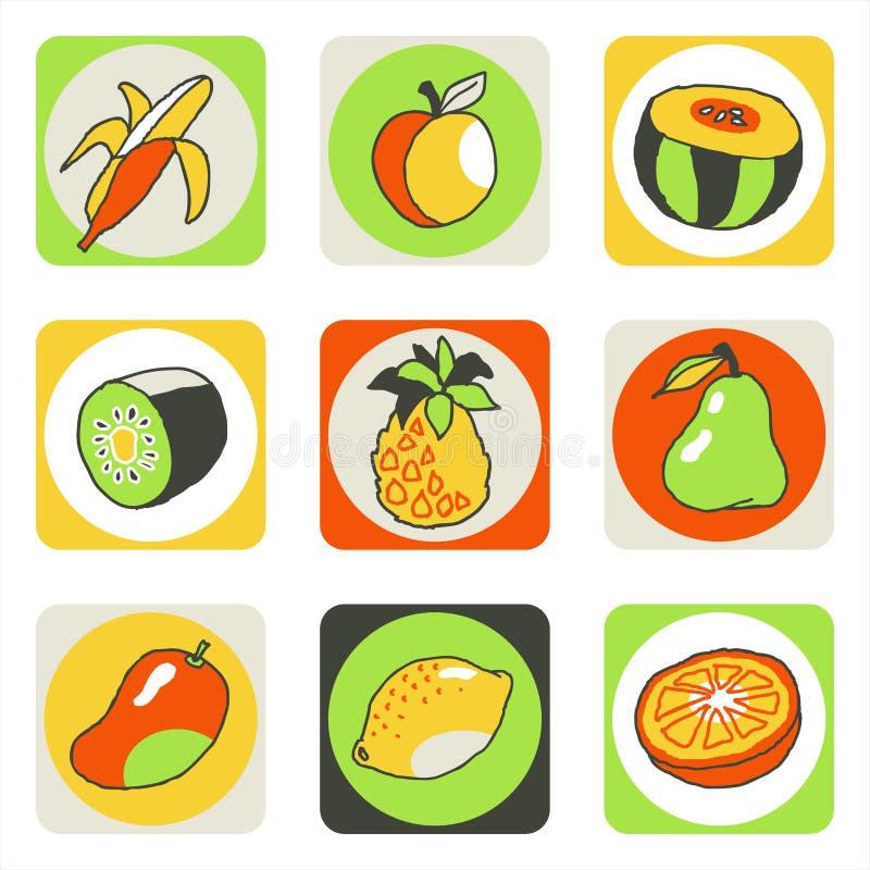 Pictogrammen 2 van vruchten vector illustratie