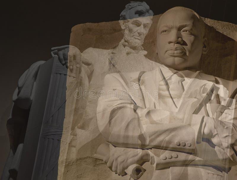 Pictogrammen in Amerikaanse Burgerrechten stock fotografie