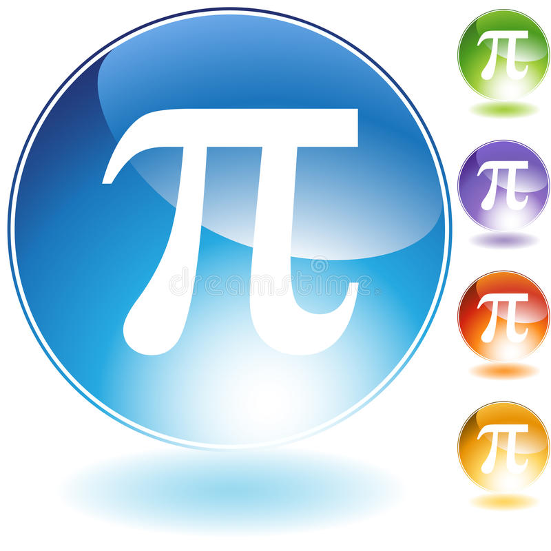 Pictogrammen - Grieks Symbool Pi vector illustratie