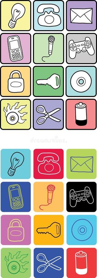 Download Pictogrammen - Hand Getrokken Stijl Vector Illustratie - Illustratie bestaande uit schijf, decoratief: 29511383