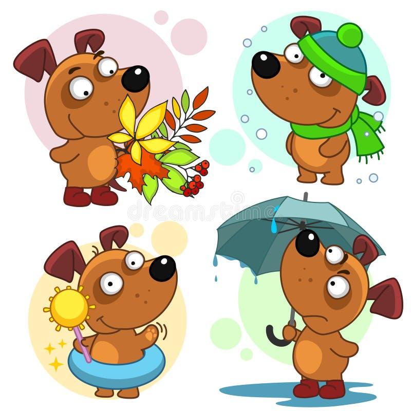 Pictogrammen met hondendeel 50 vector illustratie