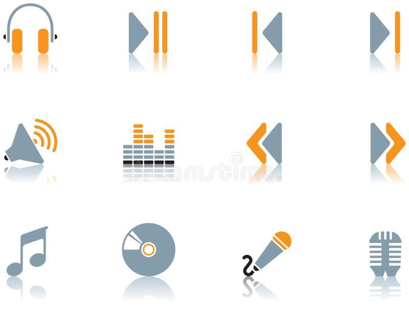 Pictogrammen - muziekreeks 3 stock illustratie