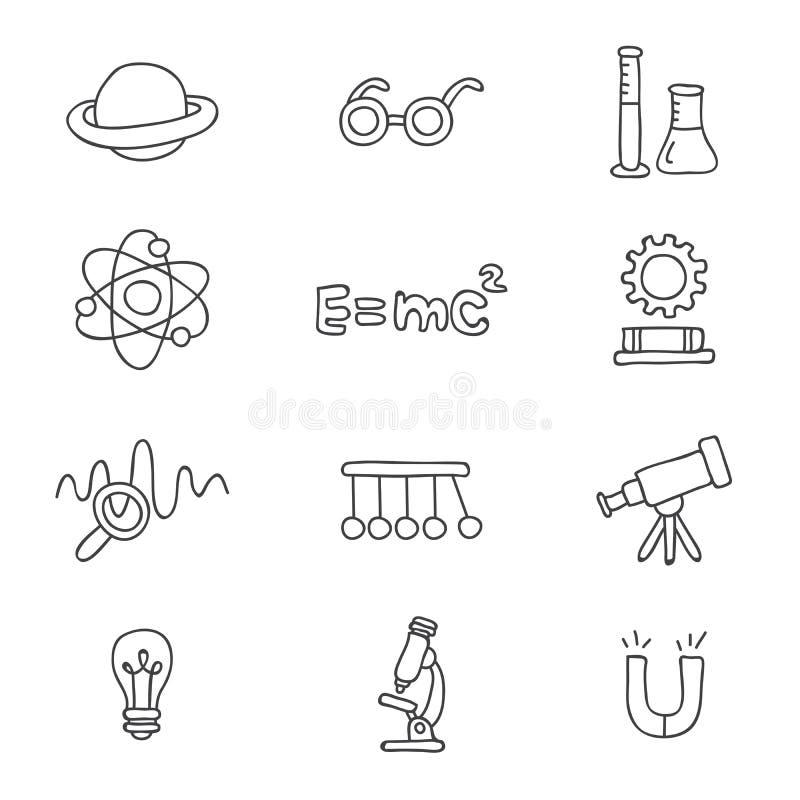 Pictogrammen op de fysica vector illustratie