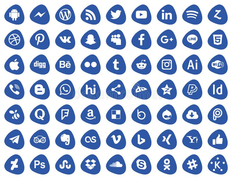 pictogrammen sociale media reeks royalty-vrije illustratie