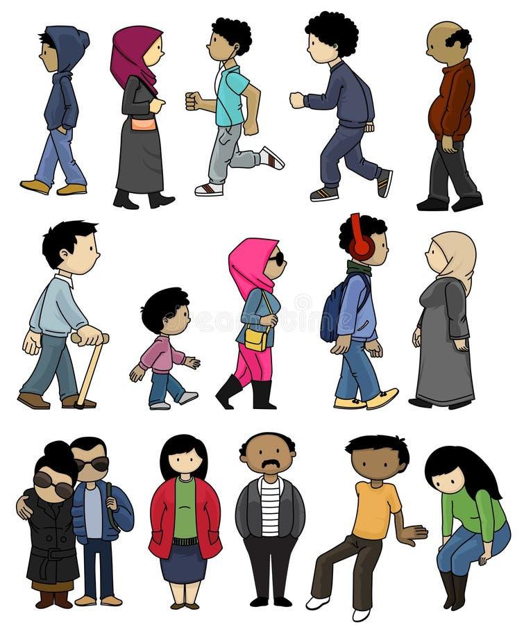 Pictogrammen van de Mensen Van het Middenoosten stock afbeeldingen