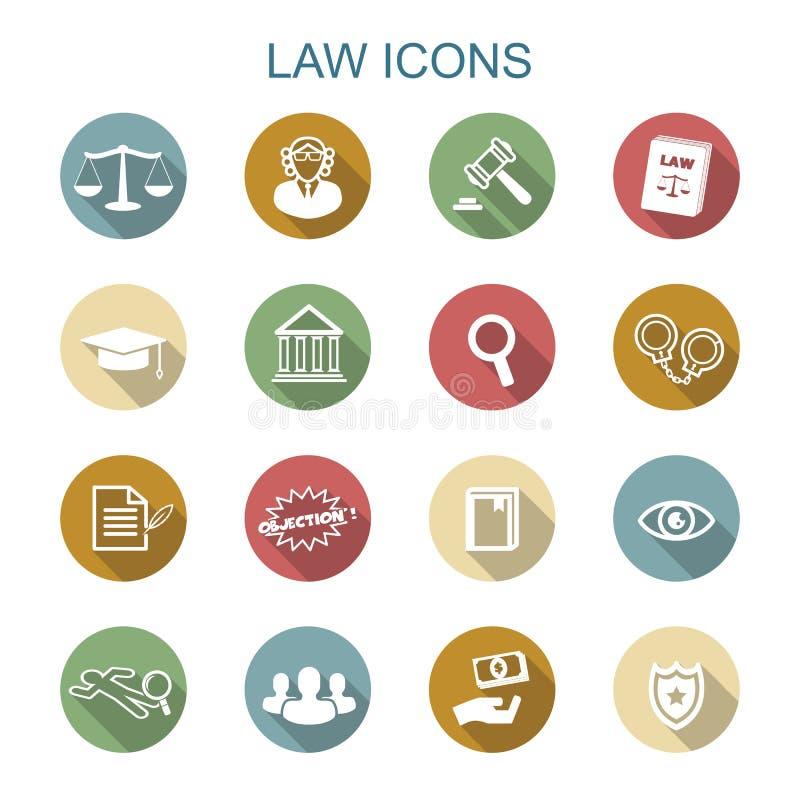 Pictogrammen van de wets de lange schaduw royalty-vrije illustratie