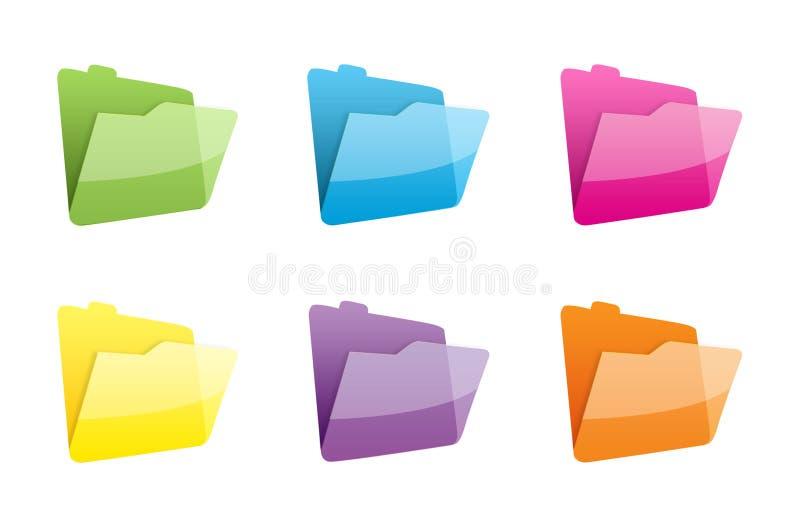 Pictogrammen van dossiers vector illustratie