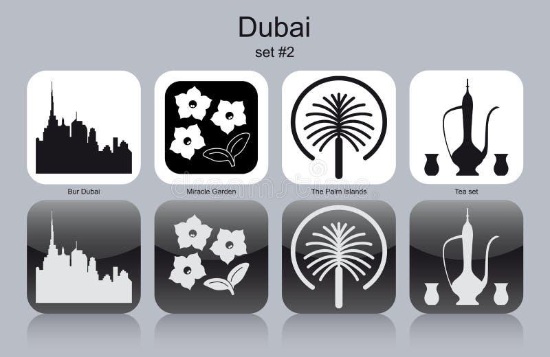 Pictogrammen van Doubai royalty-vrije illustratie