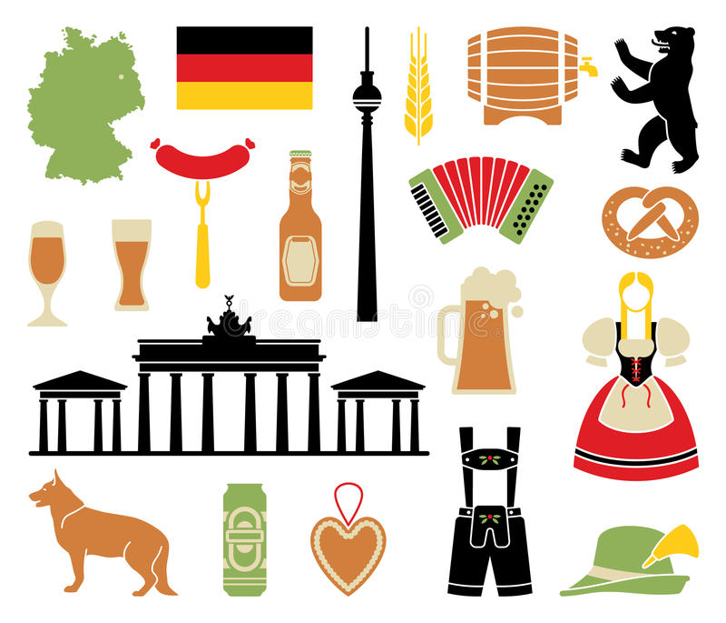 Pictogrammen van Duitsland stock illustratie