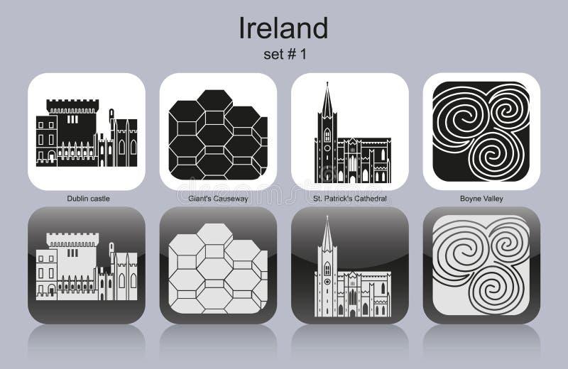 Pictogrammen van Ierland stock illustratie