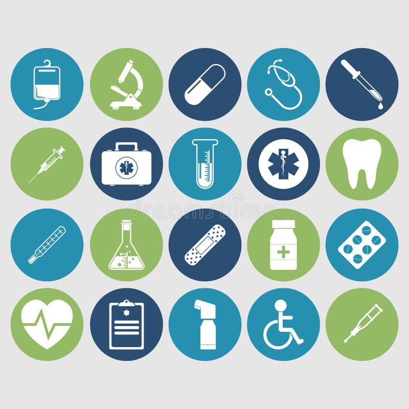 Pictogrammen van medische apparatuur royalty-vrije illustratie