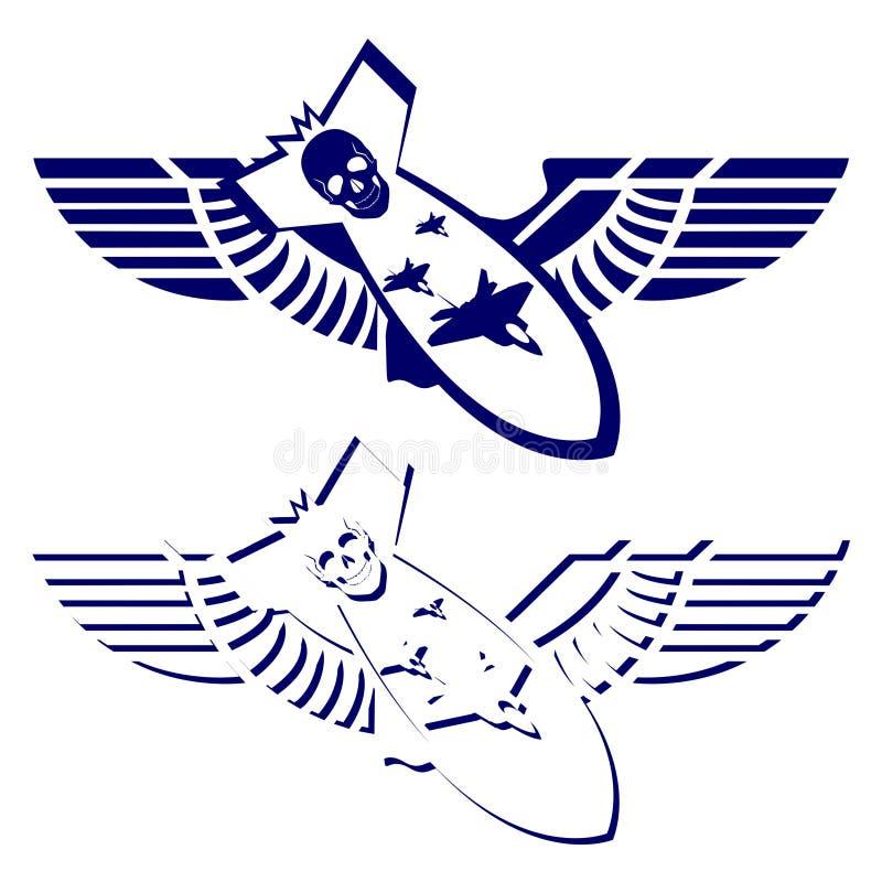 Pictogrammen van militaire luchtvaart-1 vector illustratie