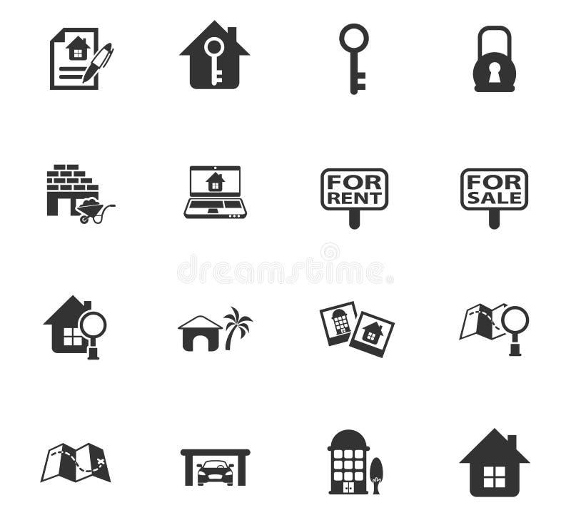 Pictogrammen 2 van onroerende goederen vector illustratie