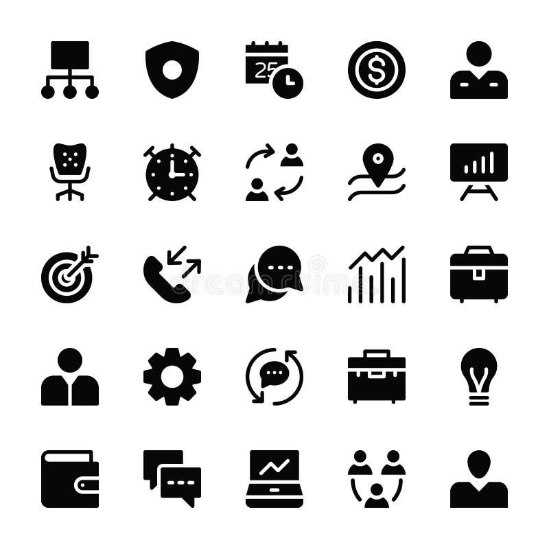 Pictogrammen 2 van personeelsglyphs royalty-vrije illustratie