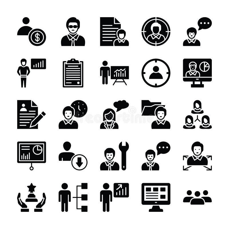 Pictogrammen 1 van personeelsglyphs royalty-vrije illustratie