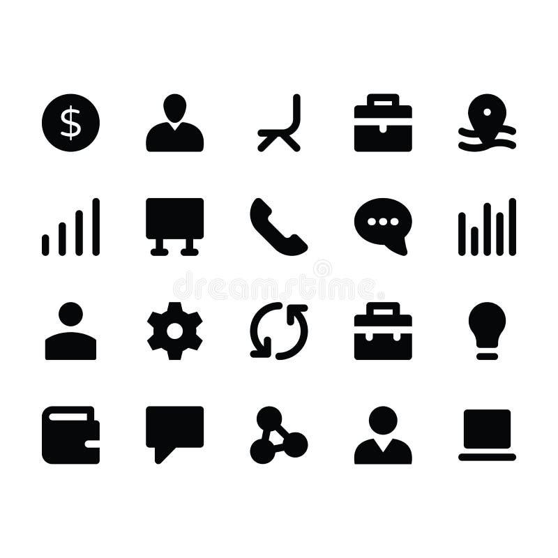 Pictogrammen 2 van personeelsglyphs stock illustratie