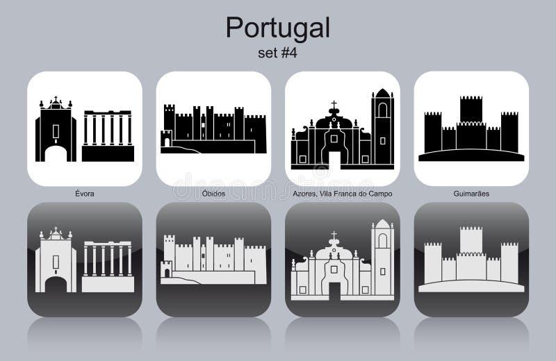 Pictogrammen van Portugal vector illustratie