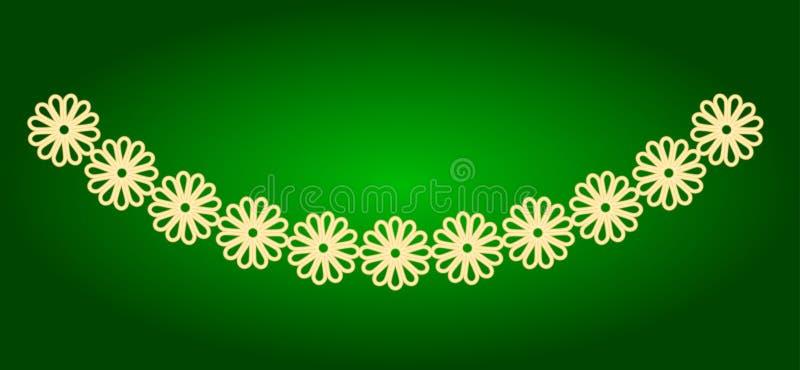 Pictogrammen van slingers van bloemen Vakantie Ugadi stock foto