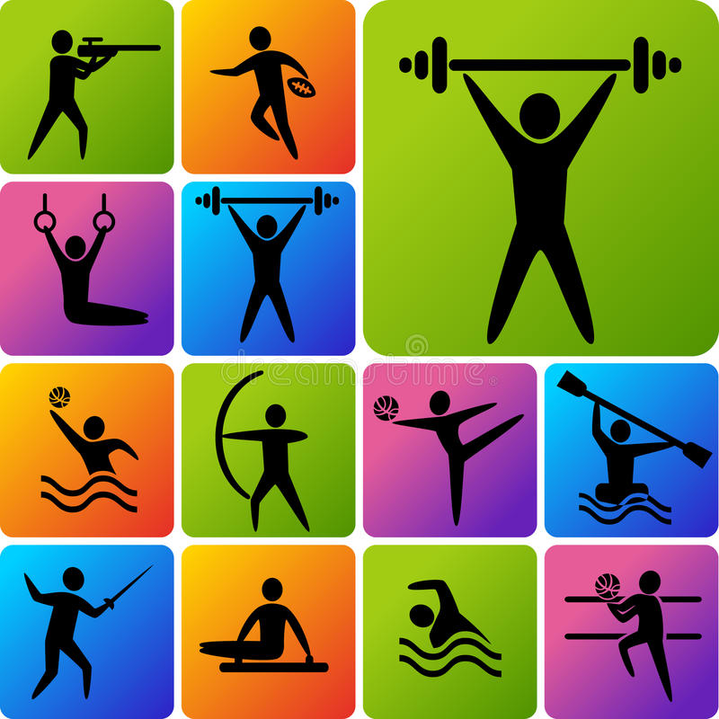 Pictogrammen van Sporten vector illustratie