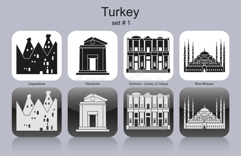 Pictogrammen van Turkije vector illustratie
