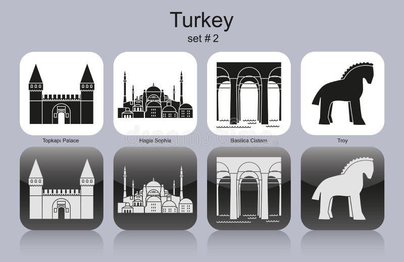 Pictogrammen van Turkije royalty-vrije illustratie