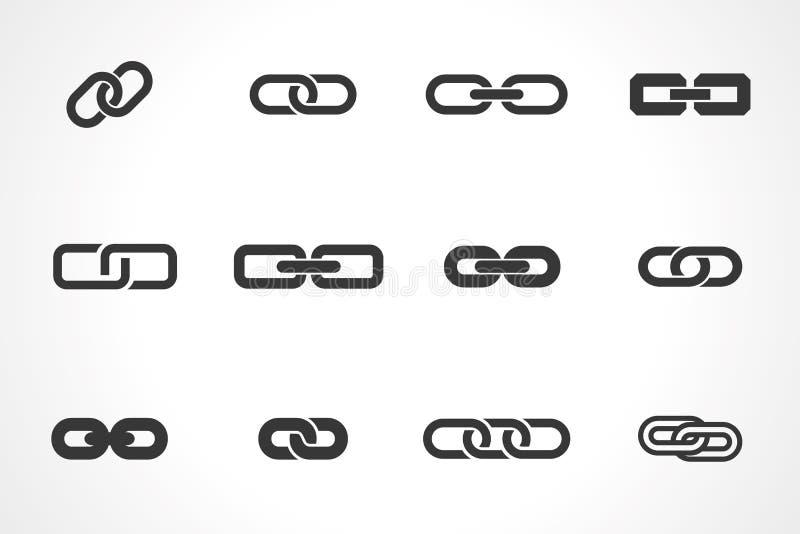 Pictogrammen van verbinding stock illustratie