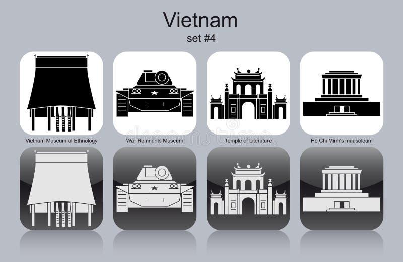 Pictogrammen van Vietnam royalty-vrije illustratie