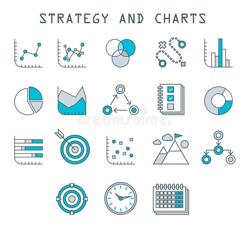 Pictogrammen Vectorgrafiek de bedrijfs van Infographic vector illustratie