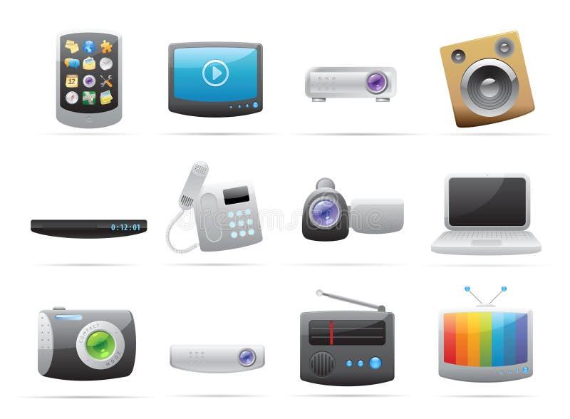 Pictogrammen voor apparaten stock illustratie